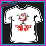 PERSONALISED SANTA CLAUS CHRISTMAS TSHIRT CHILDRENS MENS & LADIES SIZES - 150901351495